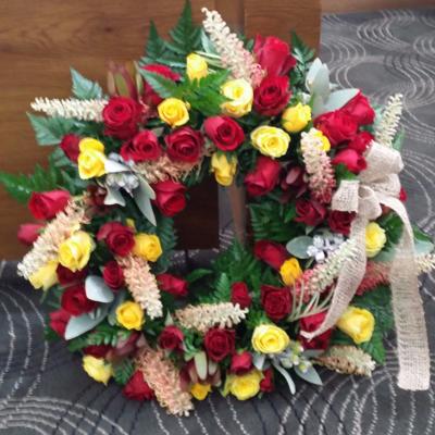 """15"""" Bright mixed wreath"""