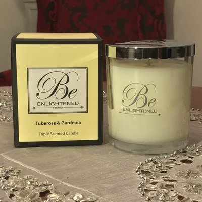 BeEnlightened Tuberose and Gardenia Candle