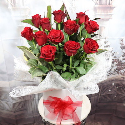 12 Red Roses Bouquet- Endless Love