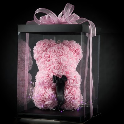 Pink Forever Rose Teddy