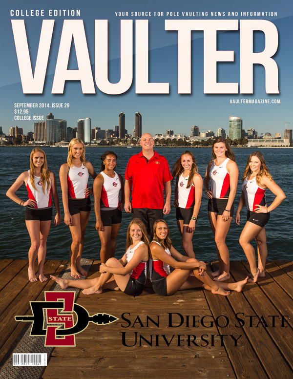 """September 2014 San Diego State University College Edition Issue of VAULTER Magazine USPS First Class """"ONLY"""""""