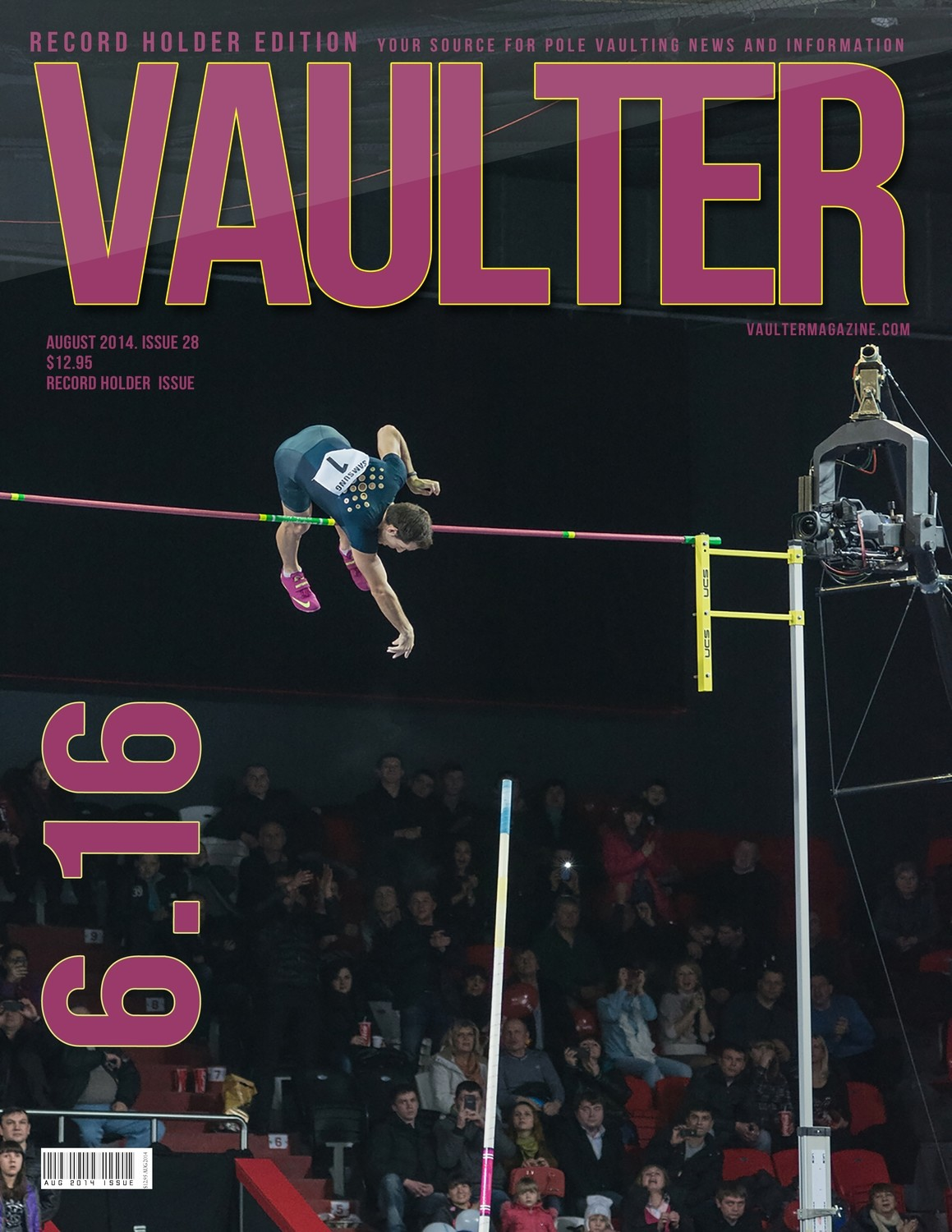 "August 2014 Renaud Lavillenie Record Breaker Edition Issue of VAULTER Magazine USPS First Class ""ONLY"""