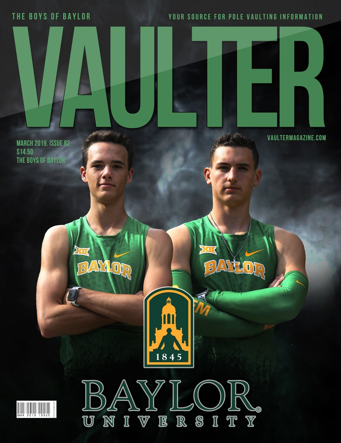 March 2019 Boys of Baylor Edition of Vaulter Magazine  U.S. Standard Mail