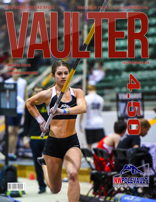 April 2019 Chloe Cunliffe High School Record Break Cover of Vaulter Magazine  U.S. Standard Mail