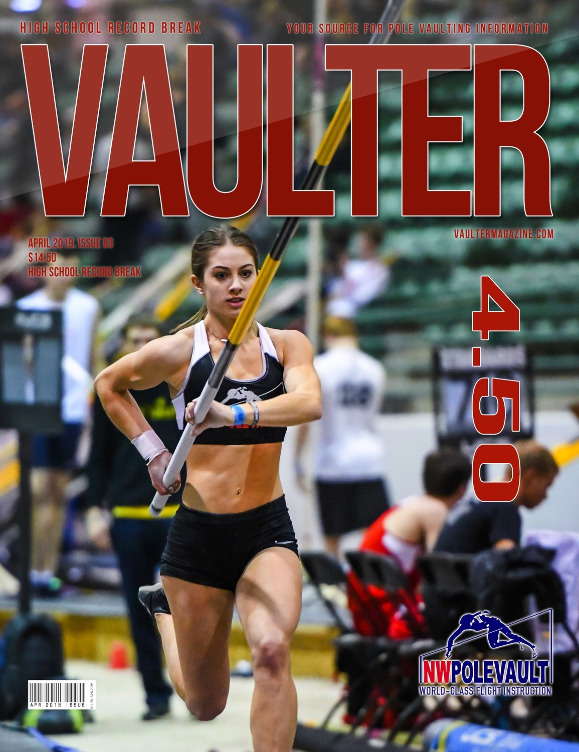 April 2019 High School Record Break Chloe Cunliffe Issue of Vaulter Magazine Cover  - Poster