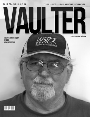 August 2019 Vaulter Magazine Rick Baggett Issue of Vaulter Magazine Cover  - Poster