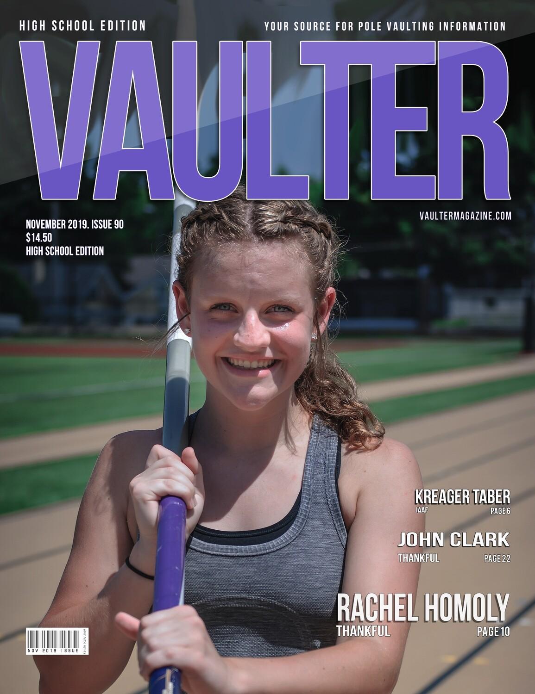 November 2019 Vaulter MagazineRachel Homoly Issue of Vaulter Magazine Cover  - Poster
