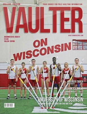 December 2019 Vaulter Magazine University of Wisconsin Issue of Vaulter Magazine Cover  - Poster