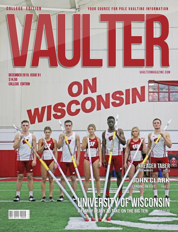 December 2019 Vaulter Magazine University of Wisconsin Issue - Digital Download