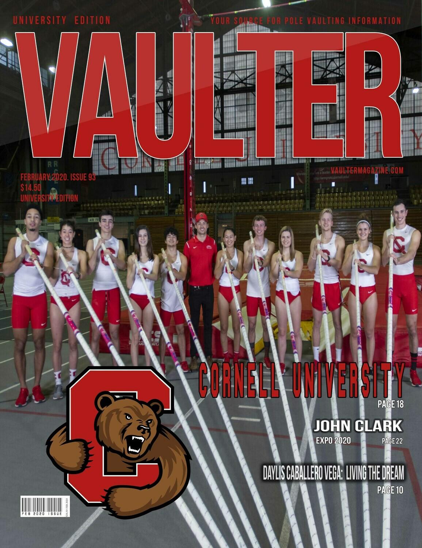 February 2020 Cornell University Issue of Vaulter Magazine  U.S. Standard Mail