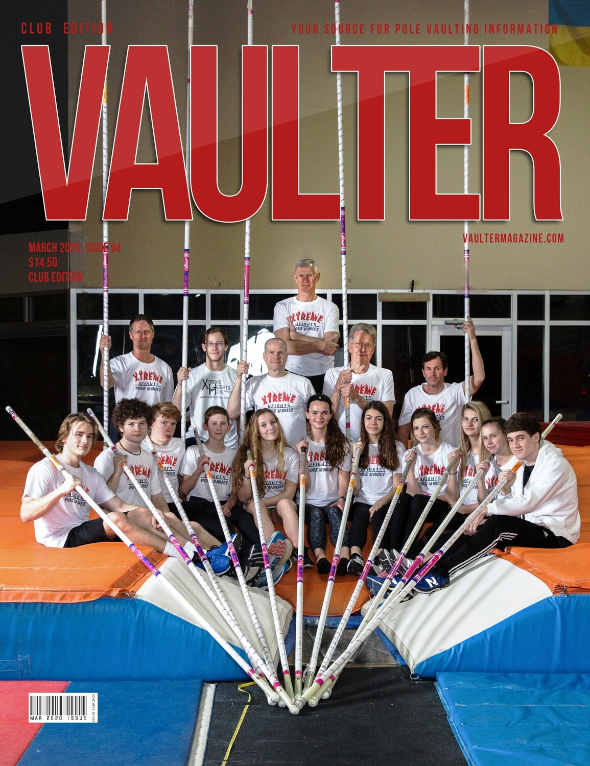 March 2020 Xtreme Heights Pole Vault Club Issue of Vaulter Magazine  U.S. Standard Mail