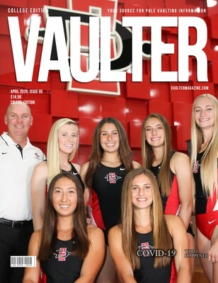 April 2020 San Diego State University Issue of Vaulter Magazine  U.S. Standard Mail