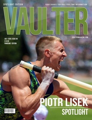 July 2020 Piotr Lisek​ Issue of Vaulter Magazine - Poster
