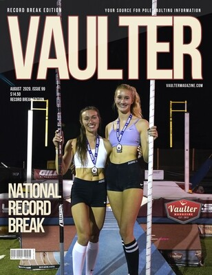 August 2020 National Record Break Issue of Vaulter Magazine U.S. Standard Mail
