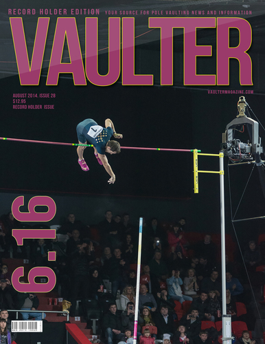 """12"""" x 18"""" Poster of Renaud Lavillenie Breaking 6.16 World Record Cover"""