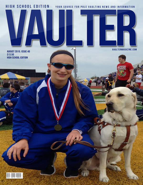 "August 2015 Charlotte Brown Issue of VAULTER Magazine USPS First Class ""ONLY"""