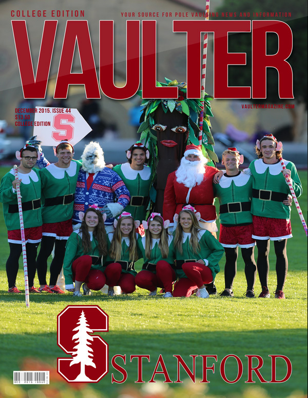 """December 2015 Stanford University Issue of VAULTER Magazine USPS First Class """"ONLY"""""""