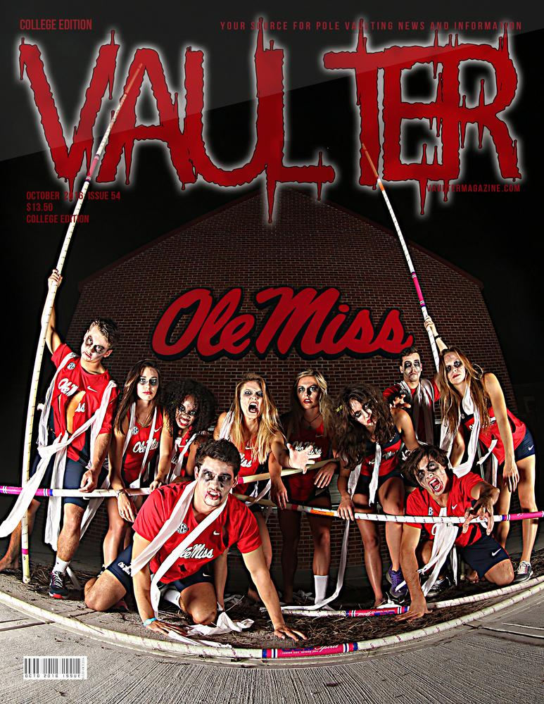 """12"""" x 18"""" Ole Miss Cover of Vaulter Magazine October 2016"""