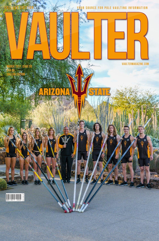 Arizona State University Cover of Vaulter Magazine March 2017