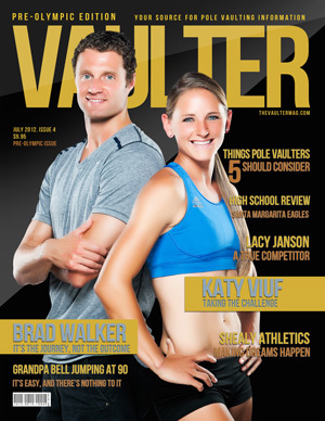 """12"""" x 18"""" Poster of  Brad Walker and Katy Viuf Cover of VAULTER"""