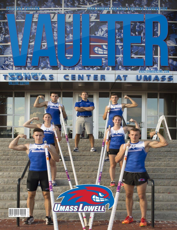 November 2017 University of Massachusetts Lowell Cover for Vaulter Magazine Digital Download