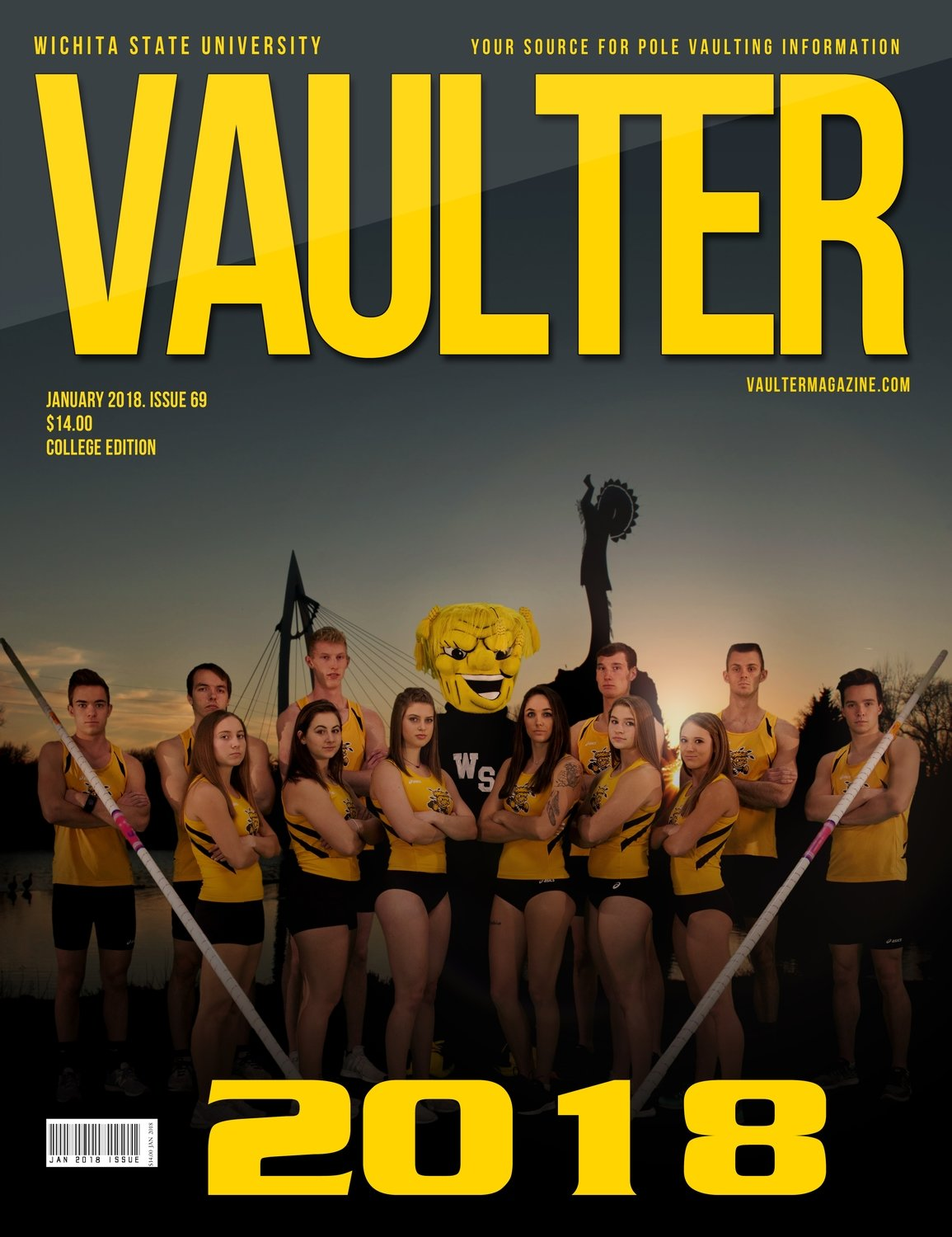 January 2018 Wichita State University Issue of Vaulter Magazine Cover USPS Mail