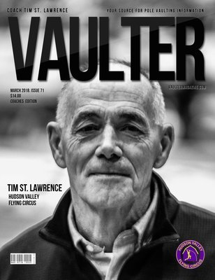 March 2018 Coach Tim St. Lawrence Issue  of Vaulter Magazine Cover Poster for Vaulter Magazine