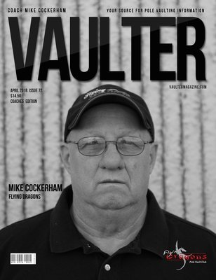 April 2018 Coach Mike Cockerham Issue of Vaulter Magazine Cover Issue of Vaulter Magazine Digital Download
