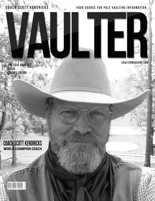 June 2018 Scott Kendricks Cover of Vaulter Magazine Issue U.S. Standard Mail