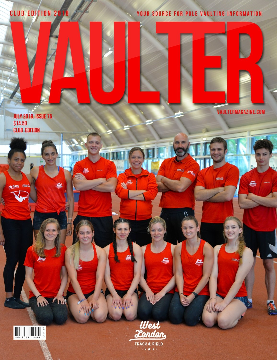 July 2018 West London Track & Field  Cover Issue of Vaulter Magazine Cover Poster for Vaulter Magazine