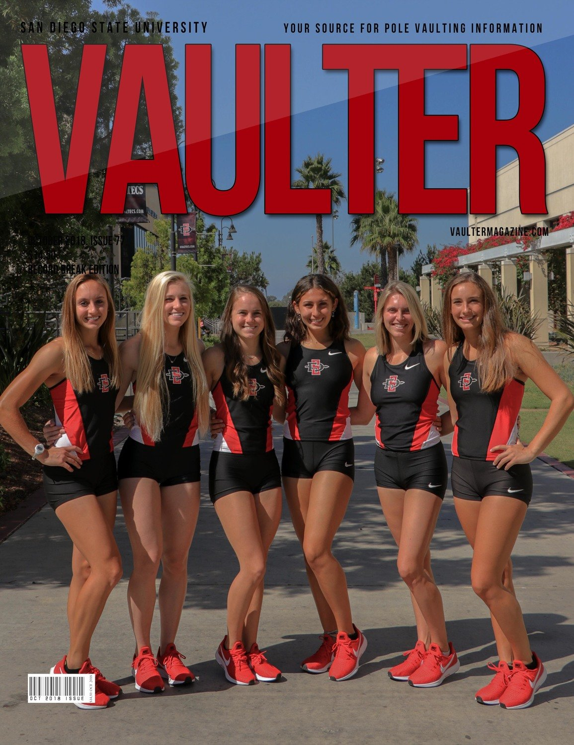 October 2018 San Diego State University Issue of Vaulter Magazine Cover - Digital Download