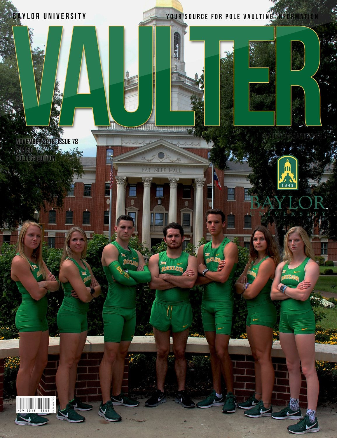November 2018 Baylor University Issue of Vaulter Magazine  U.S. Standard Mail