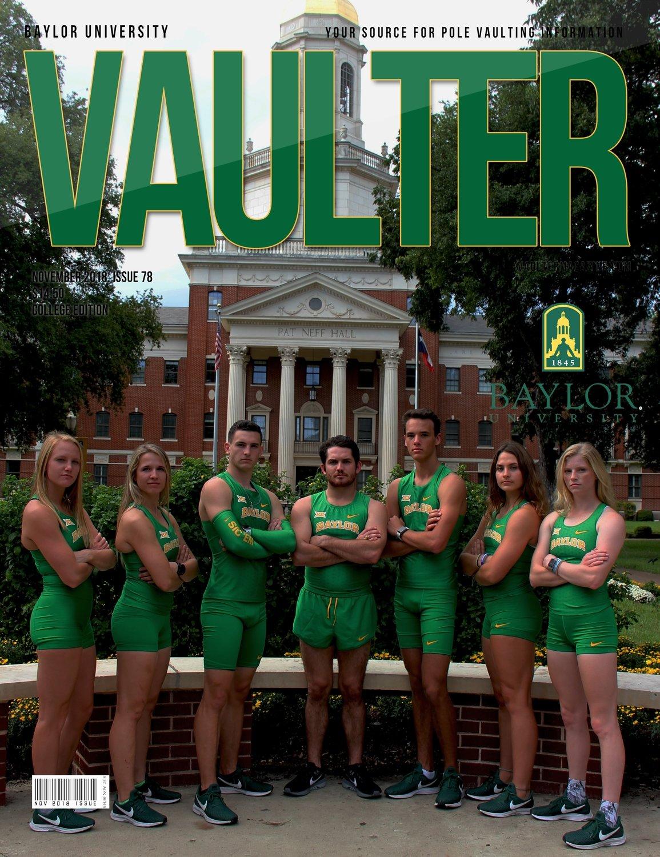 November 2018 Baylor University Issue of Vaulter Magazine Cover Poster for Vaulter Magazine