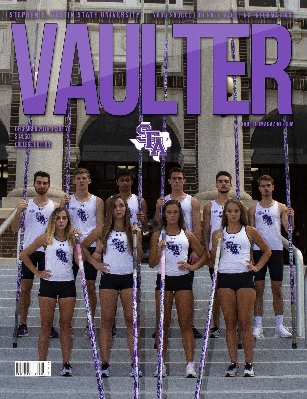 December 2018 Stephen F. Austin University Issue of Vaulter Magazine Cover Poster for Vaulter Magazine