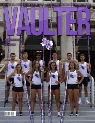 December 2018 Stephen F. Austin University Issue of Vaulter Magazine Cover Poster for Vaulter Magazine