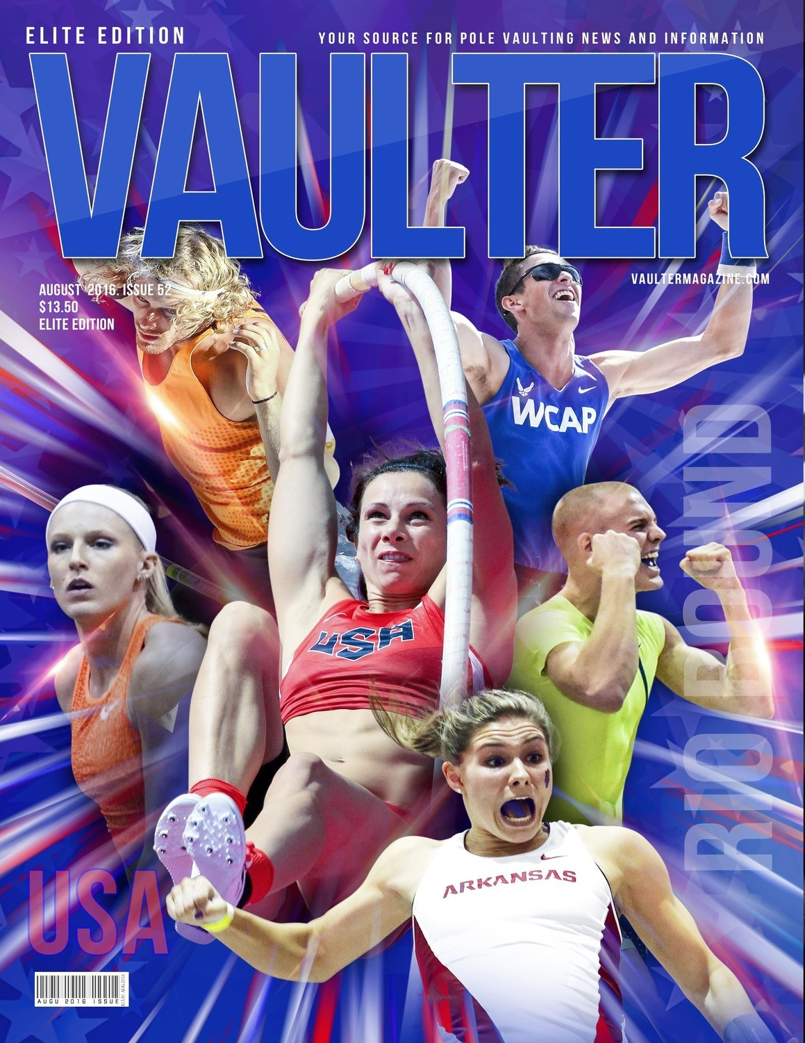 """12"""" x 18"""" Olympic Trials Cover of Vaulter Magazine August 2016"""