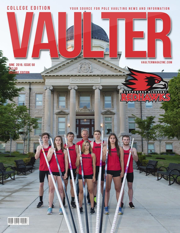 "12"" x 18"" Southeast Missouri State University Cover of Vaulter Magazine June 2016"