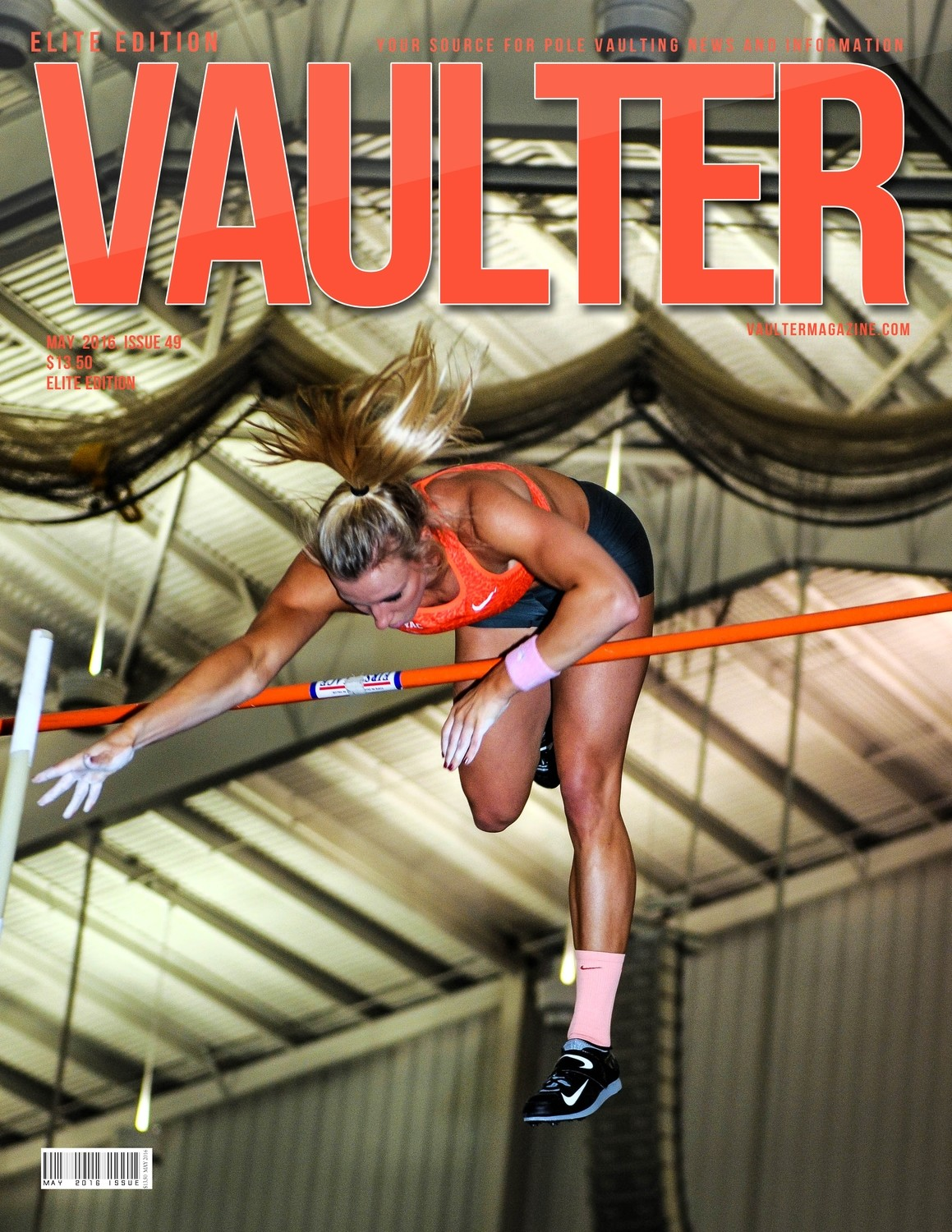 "12"" x 18"" Mary Saxer Vaulter Magazine Cover May 2016"