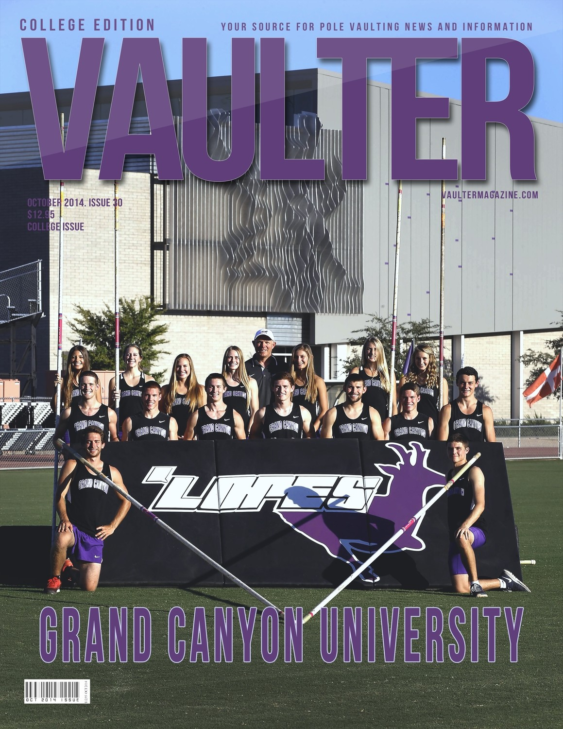 """12"""" x 18"""" Poster of Grand Canyon University Cover of VAULTER"""