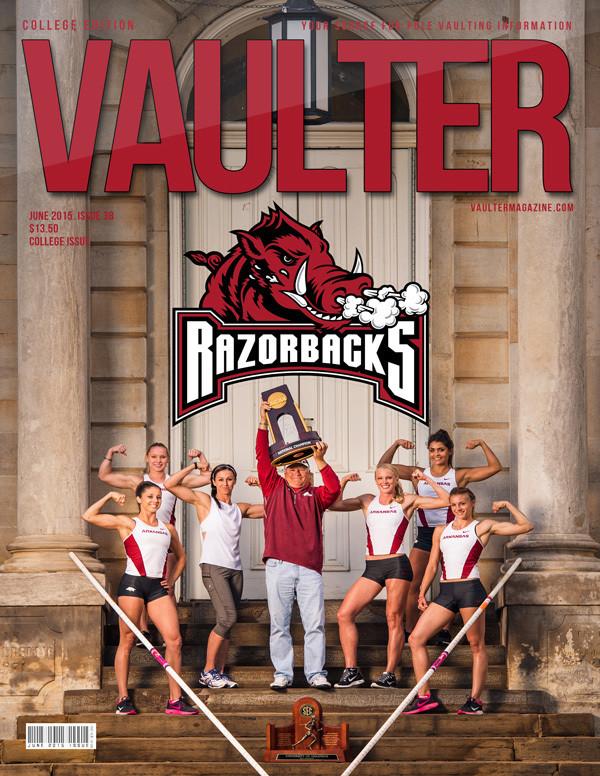 "12"" x 18"" June 2015 University of Arkansas Cover Poster of VAULTER"