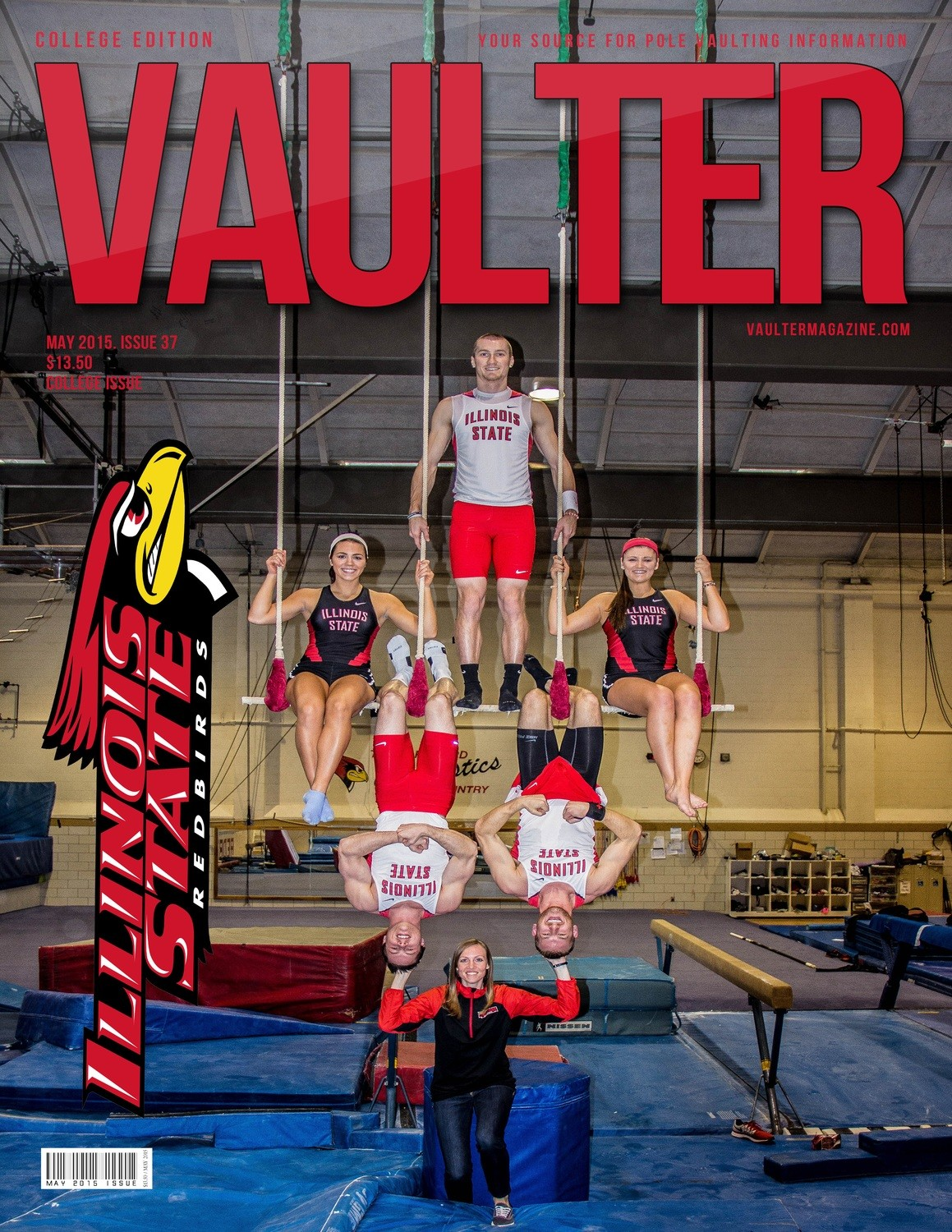 """12"""" x 18"""" 2015 Illinois State University Cover Poster of VAULTER"""
