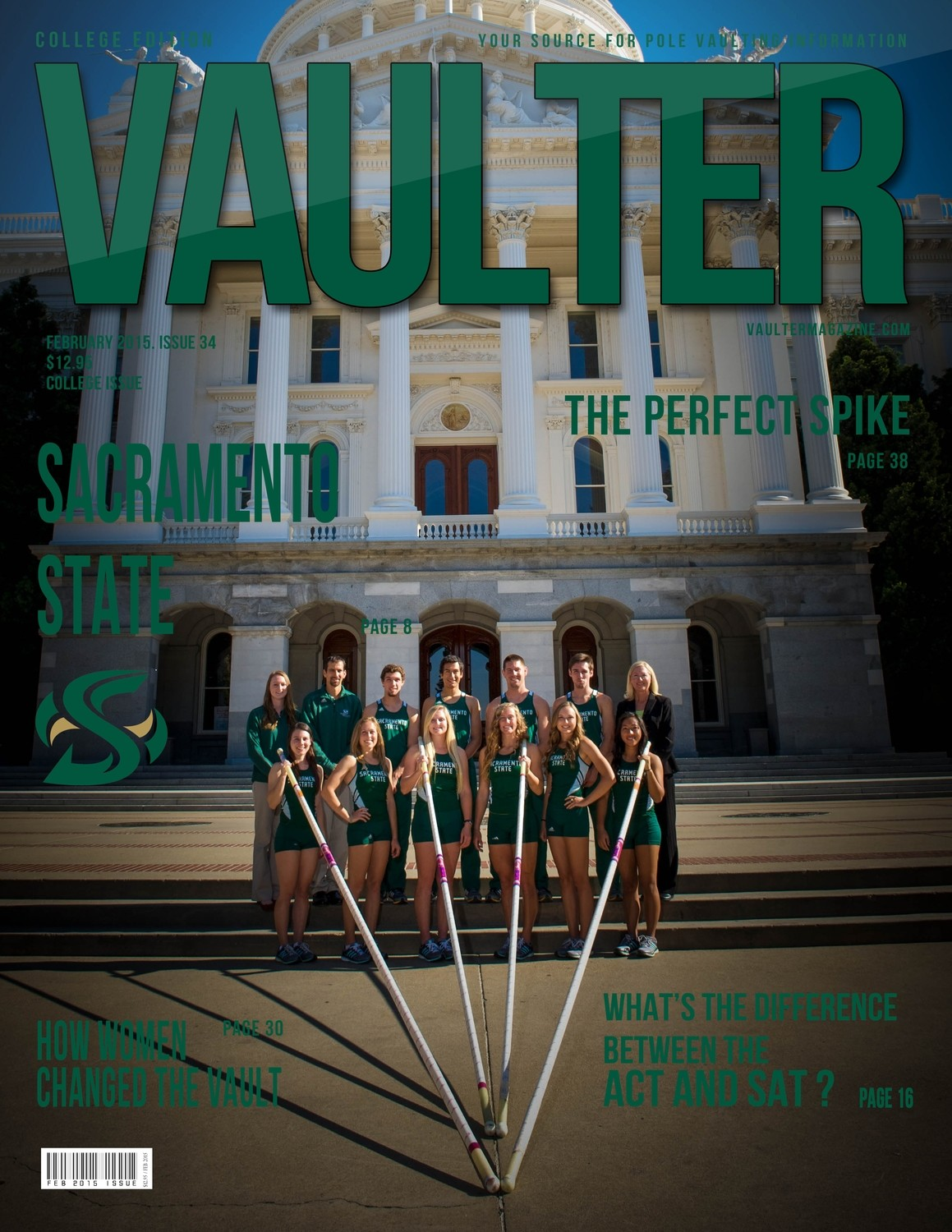 """12"""" x 18"""" Poster of the Sacramento State University Cover of VAULTER"""