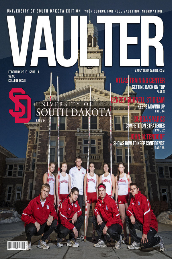 "12"" x 18"" Poster of the University of South Dakota  Cover of VAULTER"