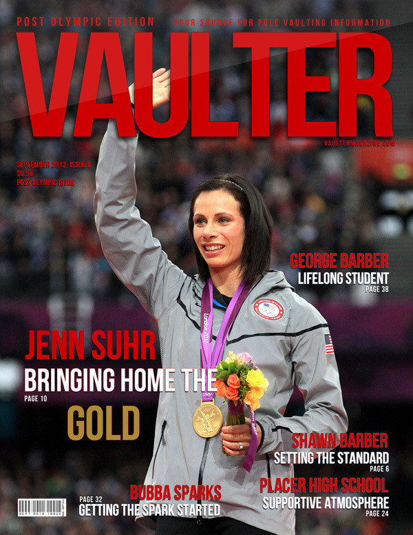 "12"" x 18"" Poster of Jenn Suhr Olympic Cover of VAULTER"