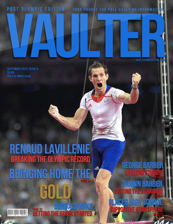 """12"""" x 18"""" Poster of  Renaud Lavillenie Olympic Cover of VAULTER"""