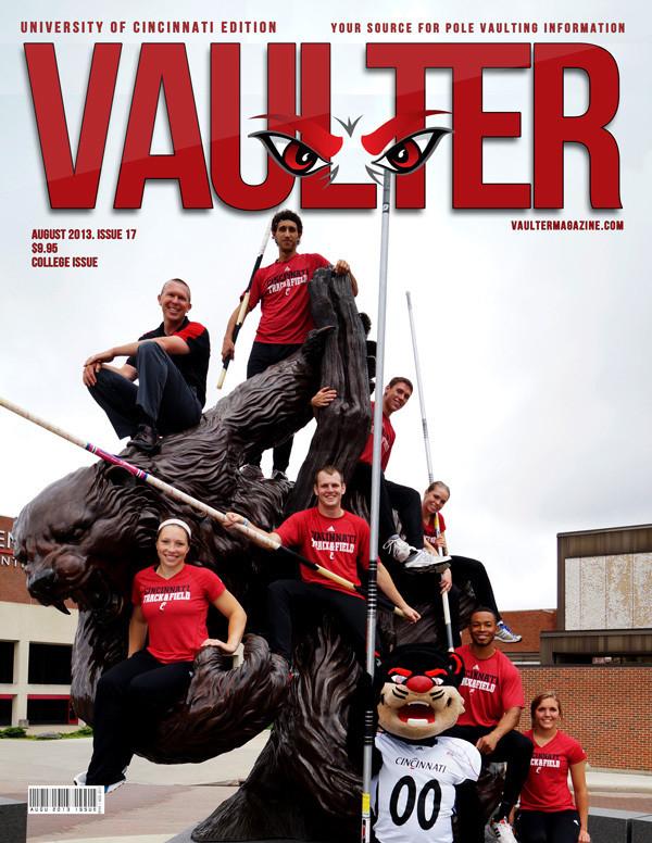 "12"" x 18"" Poster of University of Cincinnati Cover of VAULTER"