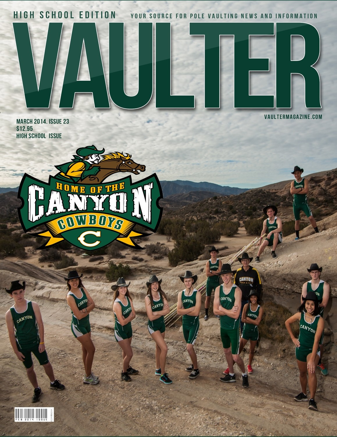 """12"""" x 18"""" Poster of the Canyon High School Cover of VAULTER"""