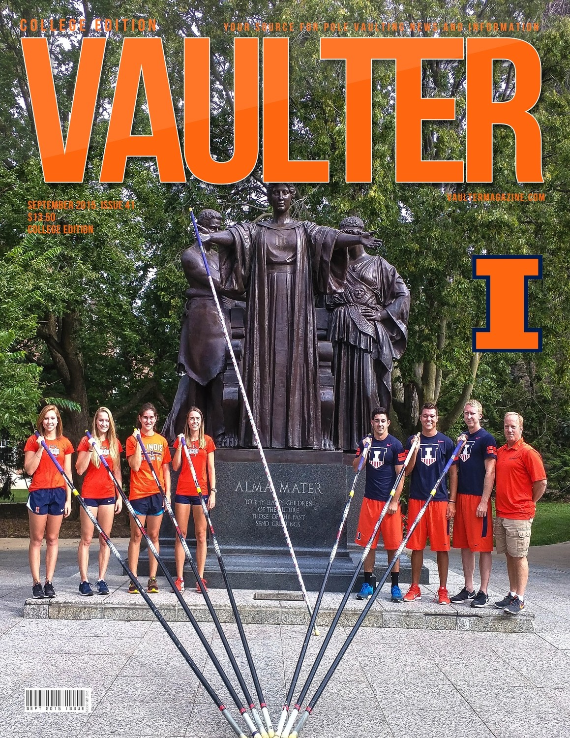"""September 2015 University of Illinois Issue of VAULTER Magazine USPS First Class """"ONLY"""""""
