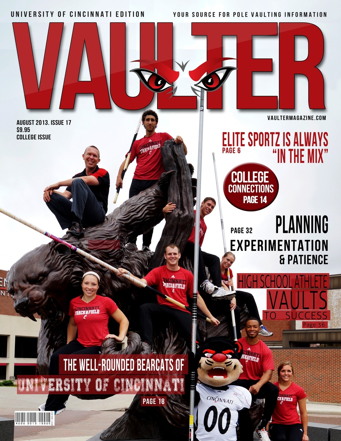 "August 2013 Issue of VAULTER Magazine USPS First Class ""ONLY"""
