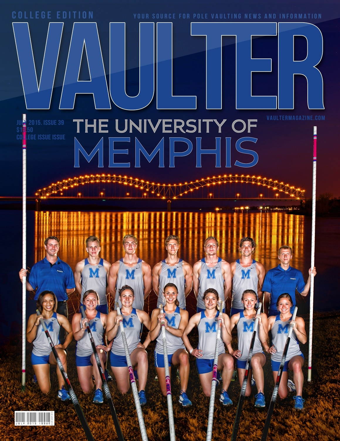 "July 2015 University of Memphis Issue Issue of VAULTER Magazine USPS First Class ""ONLY"""